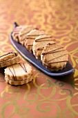 Shortbreads with white chocolate ganache and coffee filling
