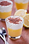 Lemon curd and whipped cream dessert
