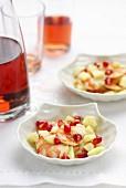 Shrimp,pomegranate and apple salad