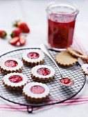 Strawberry jam shortbreads