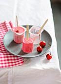 Iced cherry Petit-suisses
