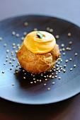 Butternut squash cream puff