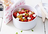Chickpea,feta and pepper salad