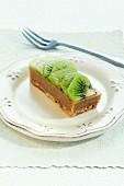 Portion of kiwi pudding