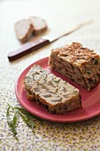 Lactose-free zucchini and tarragon terrine