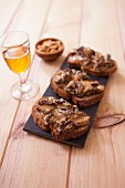 Comté cheese and morel toasted open sandwiches