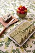 Roquefort and broccoli terrine