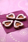 salted butter toffee heart-shaped shortbreads