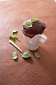 Chocolate and mint mugcake