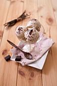 Stracciatella vanilla ice cream
