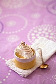 Cream dessert with lemon meringue