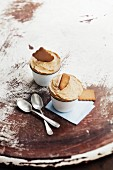 Speculos ginger biscuit iced soufflés