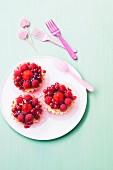 Small summer fruit tartlets