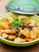 Fried potatoes with cat mint and paprika