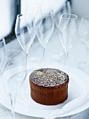 Dalloyau's Love cake,Champagne glasses