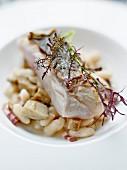 Adlerfisch vom Plancha-Grill, Mojette-Bohnen aus der Region Vendée