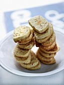 Sesame seed,aniseed and bergamot essential oil shortbreads