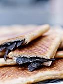 Black truffle sandwiches