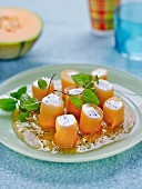 Melon Makis with cream cheese
