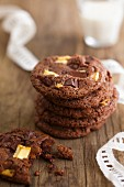 White,dark and milk chocolate cookies