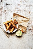 Mashed potato-cheese french fries