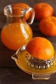Sqeezing oranges
