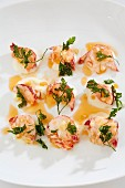 Lobster tail with fried parsley
