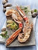 Roasted Dublin Bay prawns