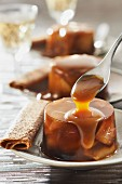 Apple jelly,salted butter toffee sauce