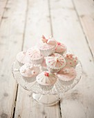 Decorated frosted cupcakes