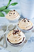 Cupcakes topped with chocolate drips