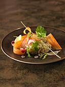 Bulghour with citronella and crisp vegetables