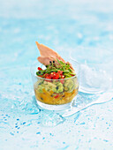 Avocado, tomato and tuna salad