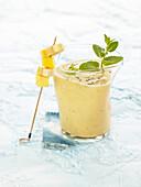 Mango-banana milkshake