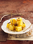 Pineapple with spices