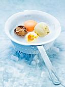 Assorted ice cream balls