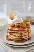 Banoffee-style pancakes