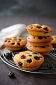Individual raspberry cakes