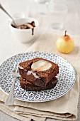 Chocolate-pear cake