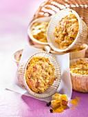 Parsnip,almond and turmeric savoury muffins