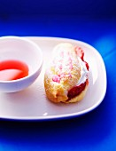 Strawberry and whipped cream Eclair