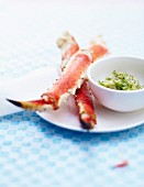 King crab pincers,artichoke hearts with dill