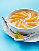 Vanilla-flavored citrus fruit gratin