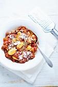 Gnocchis à la viande hachée et à la tomate ( Sujet : Pâtes )