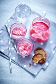 Smoothie with beetroot and fromage blanc
