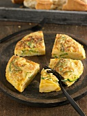 Potato and zucchini tortilla
