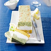 Three-colored terrine