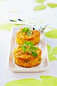Cilantro and citronella small savoury carrot cakes