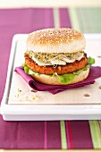 Soya-vegetable steak and tofu burger