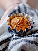 Pumpkin and mulberry muffin